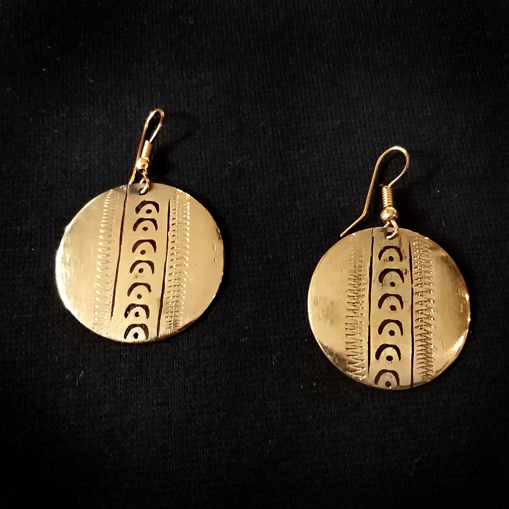 1bcaf9e61205 Pendiente redondo bronce – Angata Arte Africano